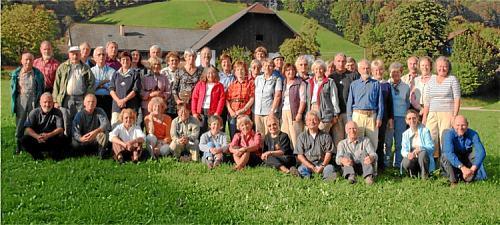 Vor der Abfahrt trafen sich alle zu einem Gruppenbild